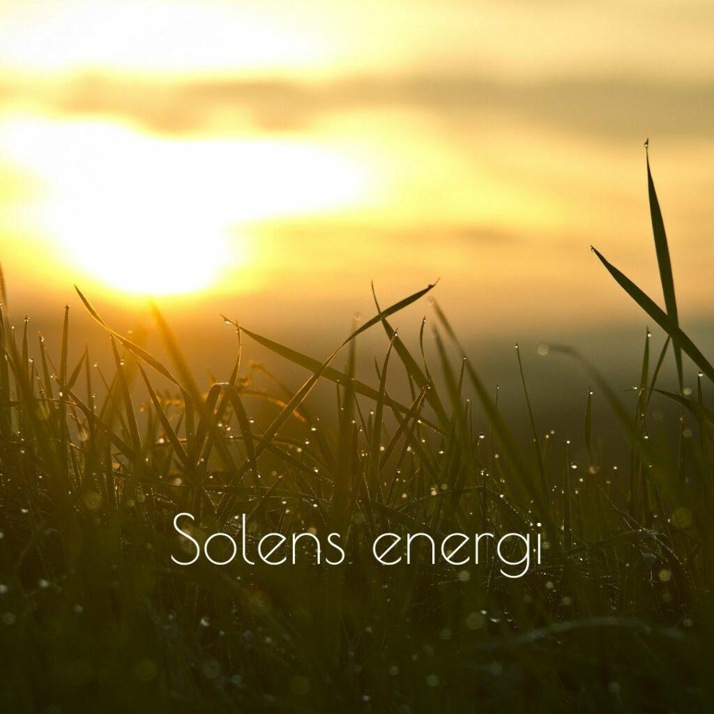 solens energi